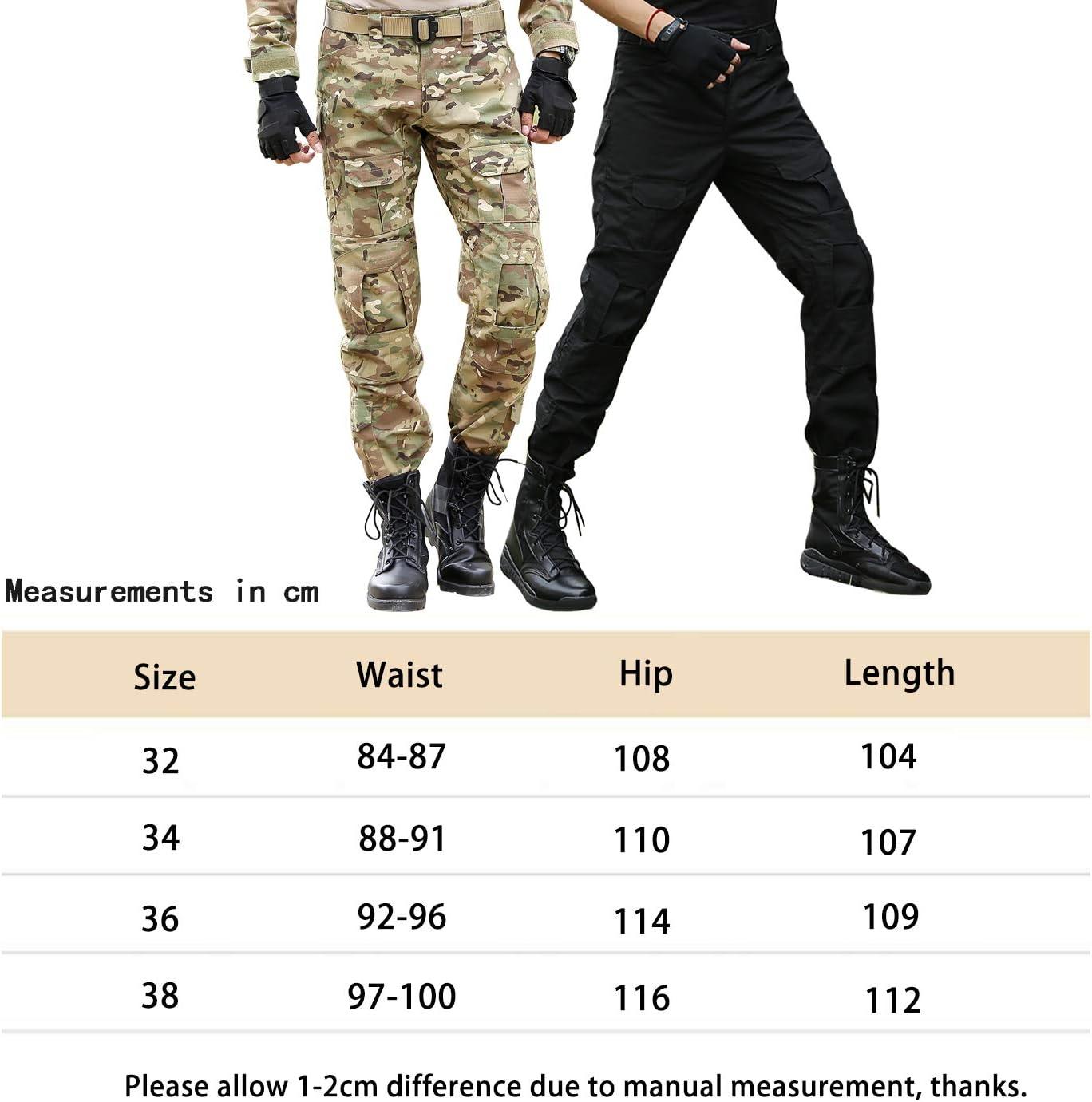 Bwbike Pantalones Tacticos Militares Para Hombres Con Rodilleras Pantalones De Trabajo De Combate Ropa Hombre