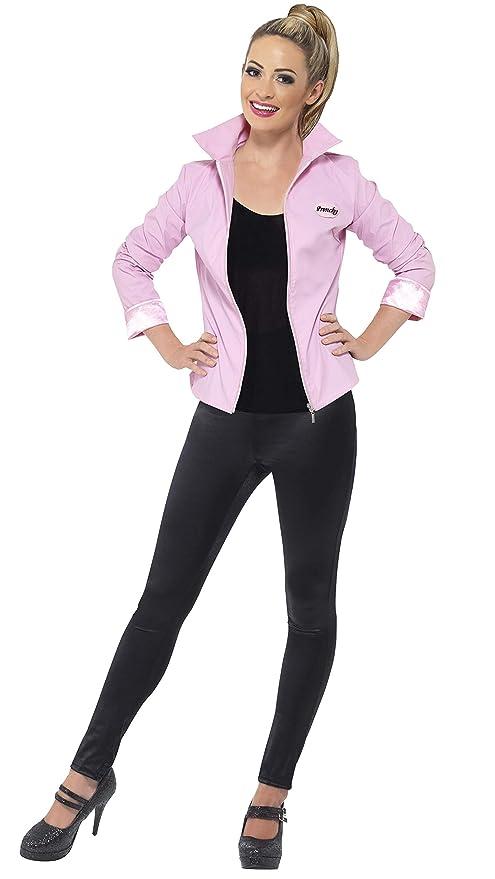 Smiffys Licenciado oficialmente Cazadora deluxe de las Pink Ladies de Grease, Rosa, con cazadora