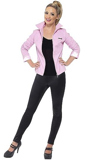 c5303400d45 Amazon.com  Ladies Deluxe Pink Grease Jacket Fancy Dress Costume  Home  Improvement
