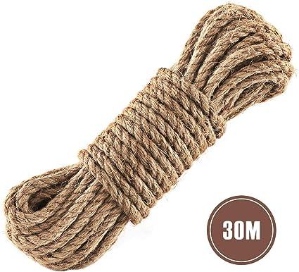 2 x 15 m Cuerda de Jardín 6 mm de grosor cuerda de yute natural cuerda para manualidades cuerda cuerda cuerda para hogar jardín DIY artesanía decoración: Amazon.es: Oficina y papelería