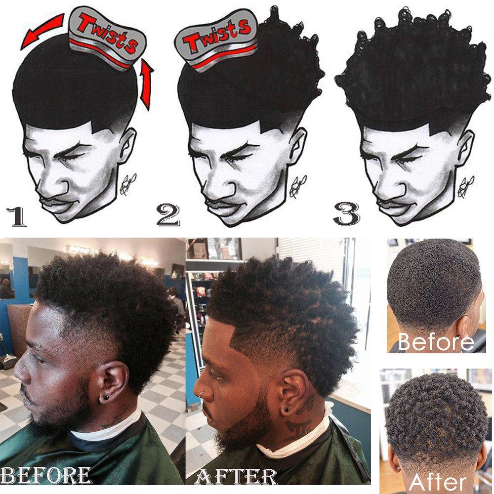 Beauty7 Twist Eponge Afro Cheveux Curl Brosse Bobines Frisé Vague Mousse Brosse Gel De Blocage Afro