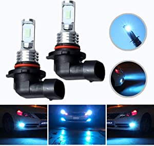HOCOLO 2x 9005 HB3 H10 9055 9145 LED Bulbs DRL Fog Driving Light Brighting Daytime Running Lamp Replace Halogen 3570 CSP Chips Car Vehicle Parts Plug-N-Play High Power(9005/HB3_Fog/DRL,Ice Blue/8000K)
