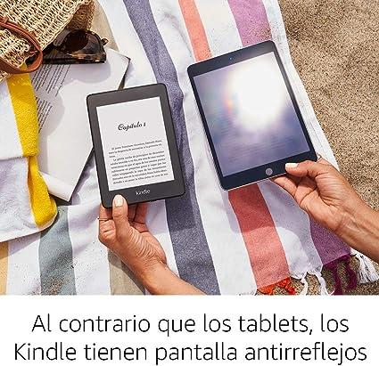 Kindle Paperwhite con pantalla anti-reflejos para una fácil y cómoda lectura.