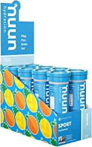 Nuun Sport: Electrolyte Drink Tablets, Tropical, 8 Tubes (80 Servings)