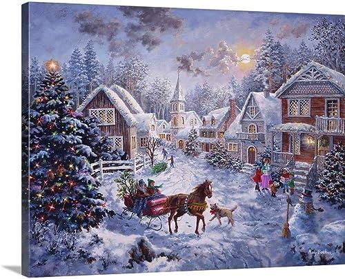 Merry Christmas Canvas Wall Art Print