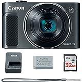 Canon PowerShot SX620 Digital Camera w/25x Optical Zoom - Wi-Fi & NFC Enabled (Black) - Memory Card Bundle (Camera + 32GB Memory Card)