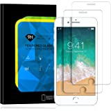 [2 Pack] iPhone 8 Plus/7 Plus Screen Protector, Elinkee 9H Hardness Full Coverage High Definition Bubble Free Anti-Scratch Tempered Glass Screen Protector for Apple iPhone 8 Plus 7 Plus