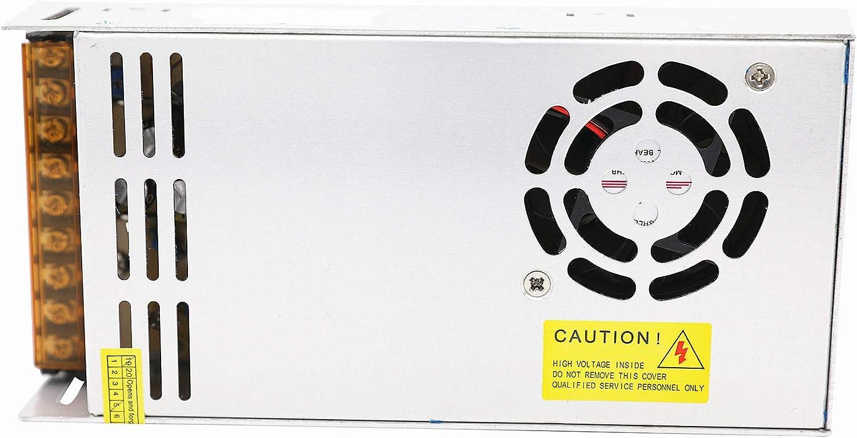 Daxpoo Tira De Led Fuente De Alimentación 24v Voltio 600W Raya Transformador Iluminación Controlador Dc Adaptador (PS600-DP24)