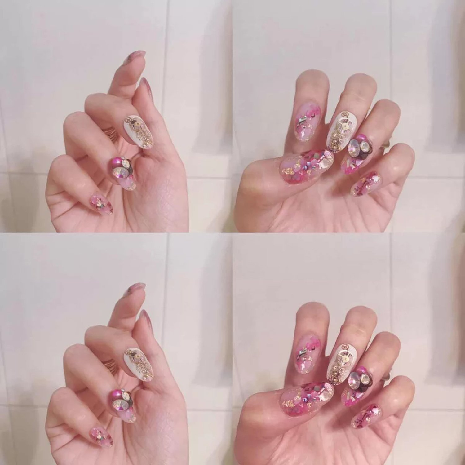 French Acrylic False Artificial Nails 500pcs 10 Sizes Clear For Nail