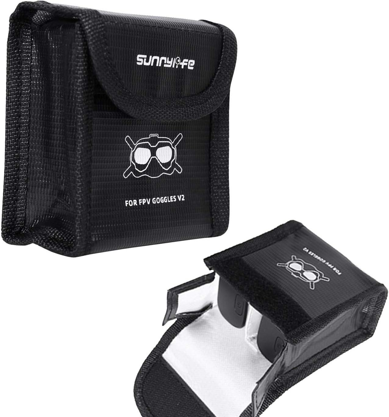 M Pochette de Protection antid/éflagrante pour Batterie Tineer Nylon Lipo Bag Battery Case Safe Storage pour DJI FPV Goggles V2 Batteries