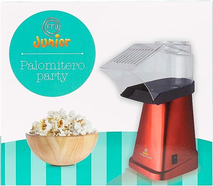 Masterchef Junior Palomitero Easy Party- Potencia De 1200W, Máquina De Hacer Palomitas con Velocidad Máxima De 3 Min, Sin Grasa Ni Aceite, Libre de BPA, Color Rojo: Amazon.es