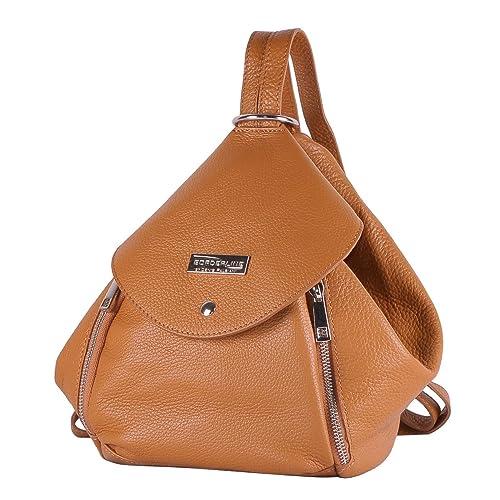 Bolsa-mochila de las mujeres en piel - AMELIA - BORDERLINE - 100% Made