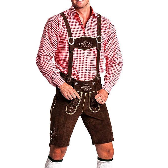 Tradicional pantalón bávaro para el Oktoberfest para hombres - Lederhosen en largo o corto con tirantes Original Frohsinn