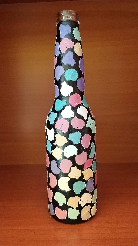 Botellas con suerte - Pack 3 Botellitas Coronita Decoración Botella Vidrio de 24 cm de alto: Amazon.es: Handmade