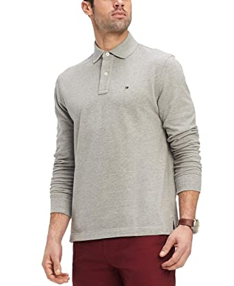 7ad13bf138 Tommy Hilfiger Mens Long Sleeve Mesh Polo Shirt at Amazon Men s ...