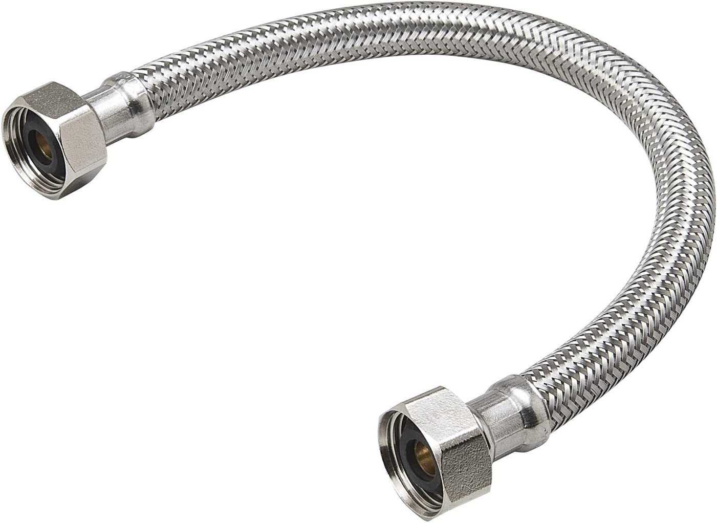 B and K Industries 496-104EF 3//8 X 7//8 X 16 Braided Stainless Steel Toilet Supply Line