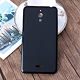 Ziaon(TM) Soft Silicone TPU Pudding Matte Finish Back Cover Case for Alcatel PIXI 4-6 9001I - Black (for 3G Model)
