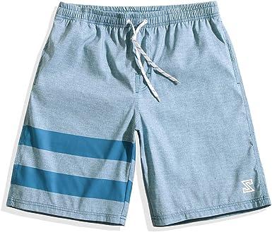 Domple Mens Waterproof Summer Casual Quick Dry Ventilation Active Beach Shorts Boardshort Swim Trunk