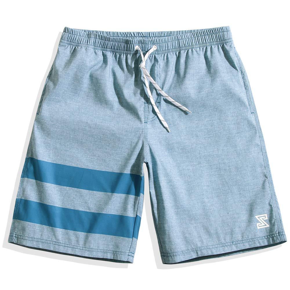 Mens Ultra Quick Dry MX Sky Blue Plain Board Shorts