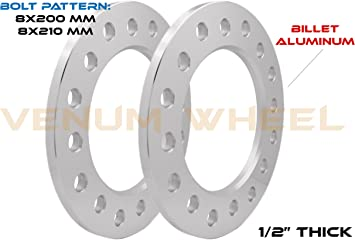 2005 /& Newer Ford F-350 Dually SET Group USA 8x210 and 8x200 Wheel Spacers 1//2 Thick Works with 2011 /& Newer Chevy GMC 3500 Dually