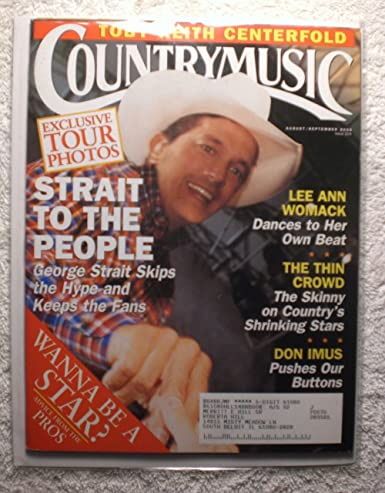 George Strait Country Music Magazine Augustseptember 2000