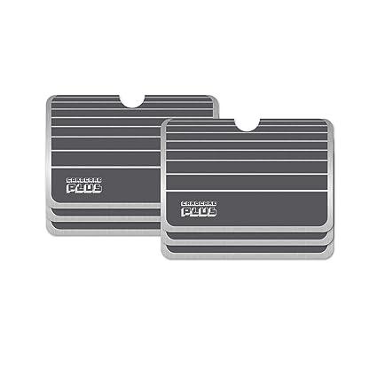 6 x Color Gris Rayas NFC RFID bloqueo Tarjeta choque anti ...