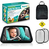 BabyLum Baby Backseat Car Mirror - View Infant In Rear Facing Carseat, Crash Safe, Crystal Clear Large Shatterproof…