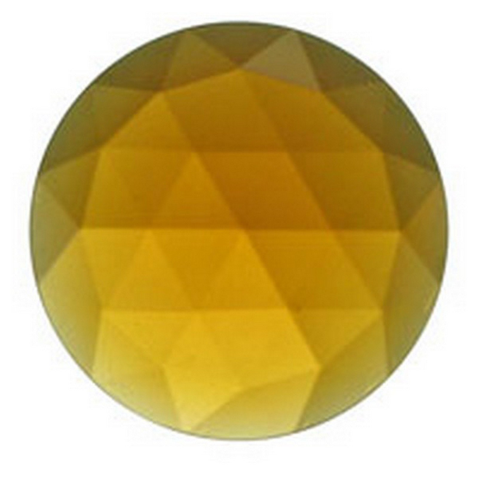Stained Glass Jewels - 25mm Round Faceted - Light Amber (Pack of 4) By Stallings Stained Glass by Stallings Stained Glass