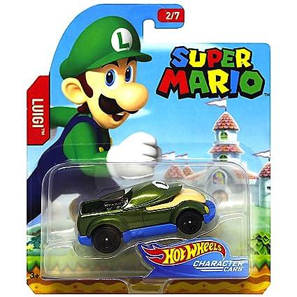 Amazon Com Hot Wheels Luigi Super Mario Character Cars