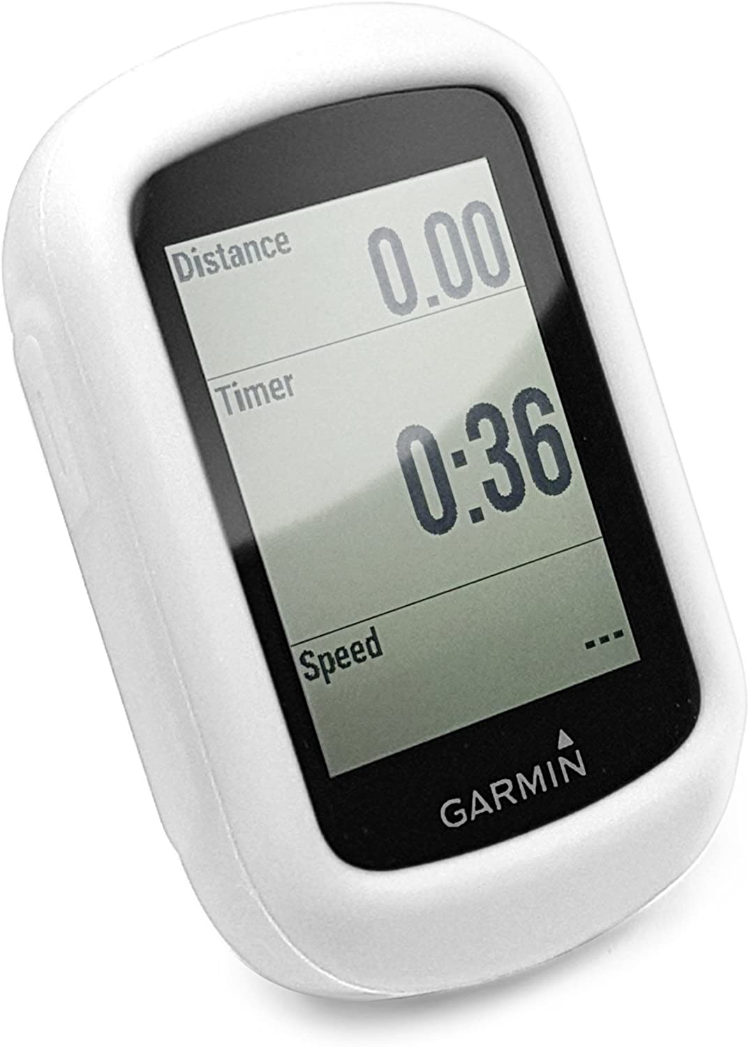 TUFF LUV 2 in 1 Combo Silicone Gel Skin Case for Garmin Edge 130 with Out-Front Handlebar Mount Blue