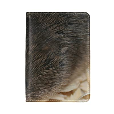 Car Road Night Leather Passport Holder Cover Case Travel One Pocket