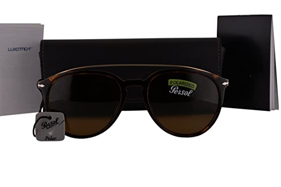 09051c35c34 Persol PO3159S Sunglasses Havana Gold w Polarized Brown Lens 901557 PO  3159-S  Amazon.co.uk  Clothing