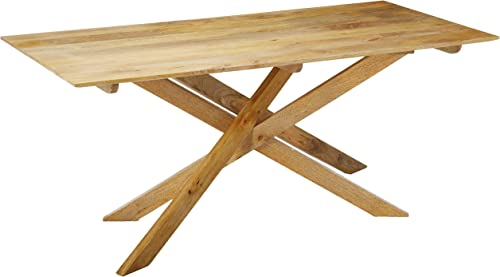 Christopher Knight Home Galton Mid-Century Modern Solid Mango Wood Dining Table, Natural Finish