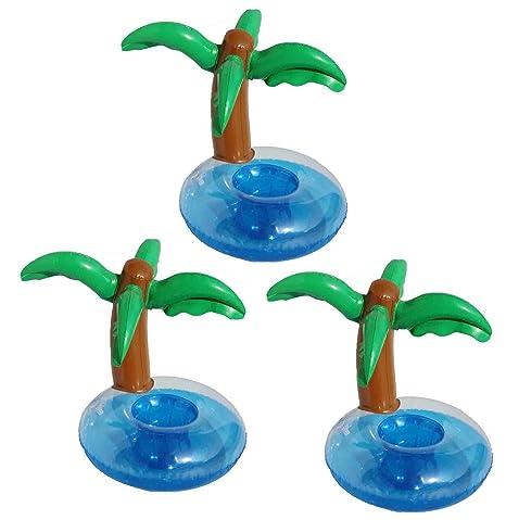 DATO 3 Piezas Flotador Posavasos Titular de la Taza Piscina Inflable Bebida Flotador Juguetes de Baño