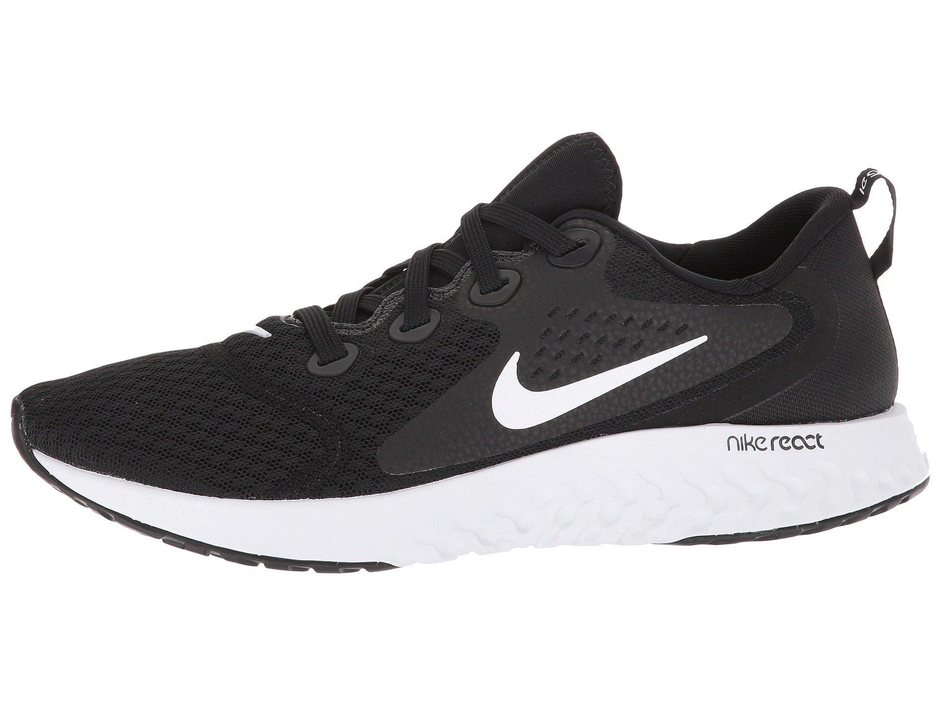 Nike Women's Legend React Running Shoes, Black (BlackWhite 001), 2.5 UK