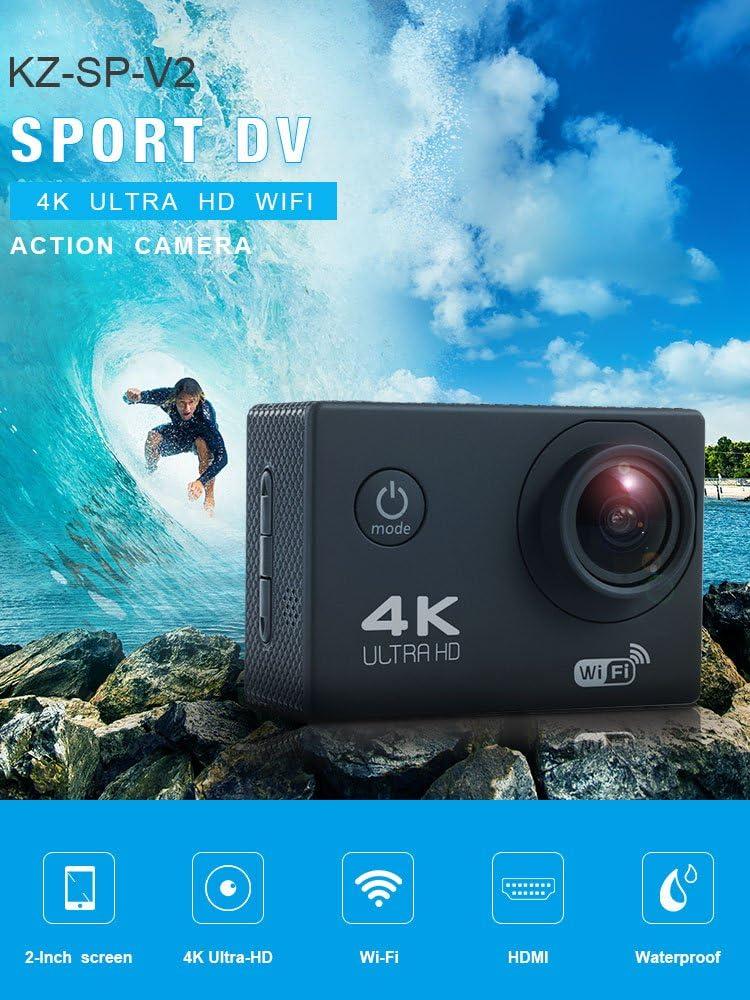 MUQGEW 1080P Wifi Sport Action Camera Ultra HD Impermeabile DV Videocamera 12MP 140/° grandangolo Action Cam Recorder Camera