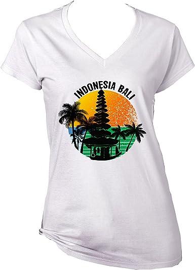 teesquare1st Bali - Indonesia Camiseta para Mujer de Algodon: Amazon.es: Ropa y accesorios