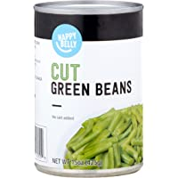 Amazon Brand - Happy Belly Cut Green Beans, No Salt Added, 15 oz