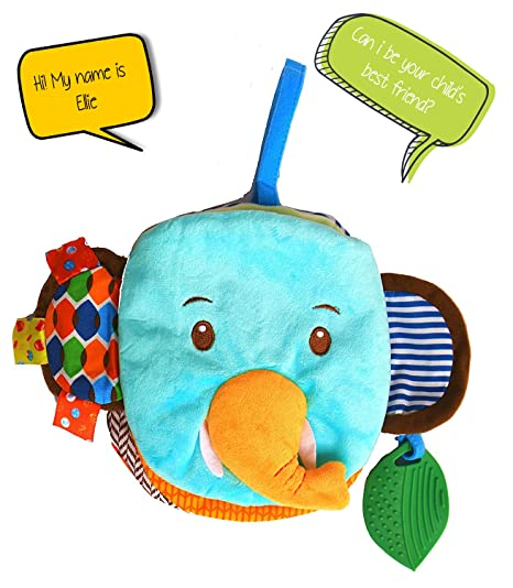 A Baby Cherry :: First Book for Infants and Toddlers (0M to 3 Yrs) - Unisex || Multipurpose Toy, Educational Book, Teether, Easy to Clean (Elephant)