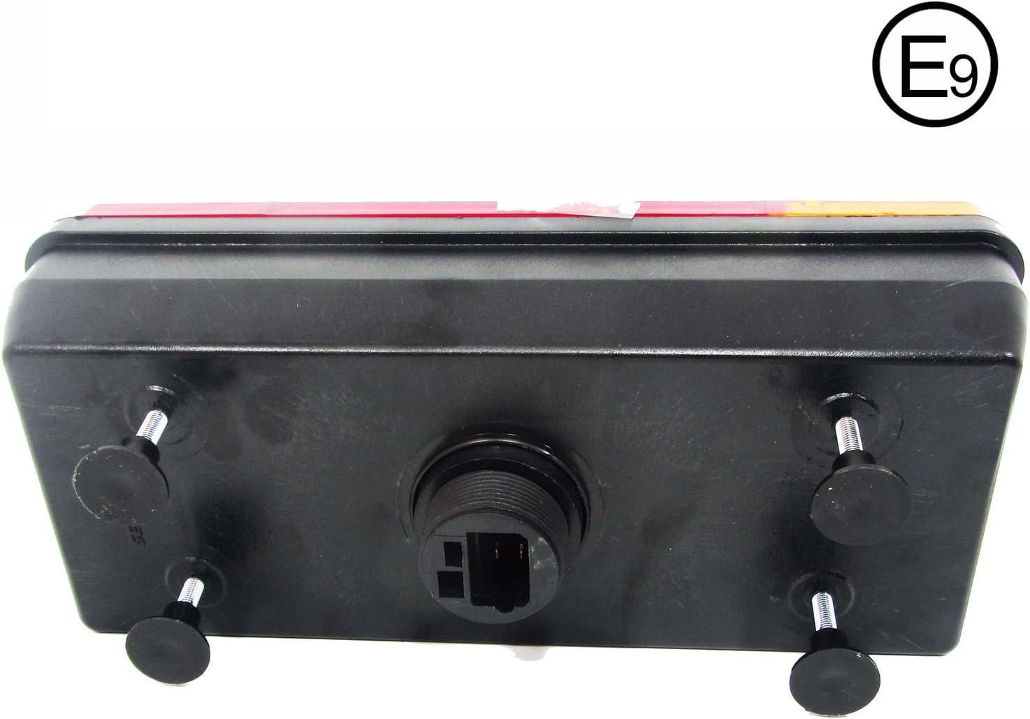 2 x 12 V 24 V Truck Car Chassis Trailer Rear Lights Tail Light
