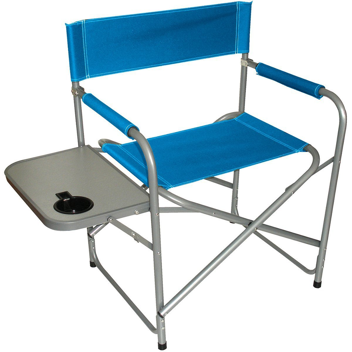 Texsport Steel Directors Chair with Side Table and Drink Holder [並行輸入品] B01IRFUKU4