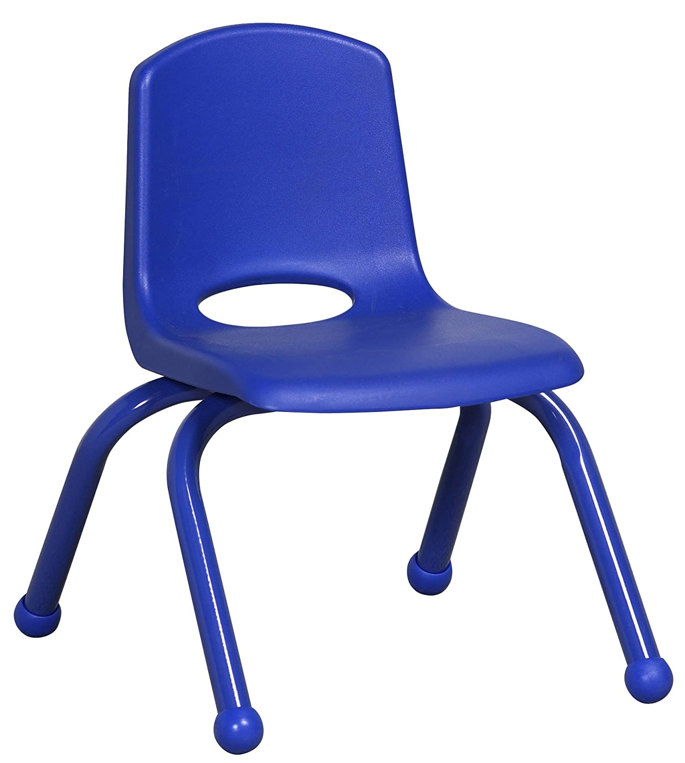ECR4Kids School Stack Chair with Matching Powder Coated Legs Ball