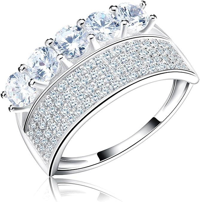Gemmart Female Luxury Big Band Ring Ring womens engagement rings fashion ring for women