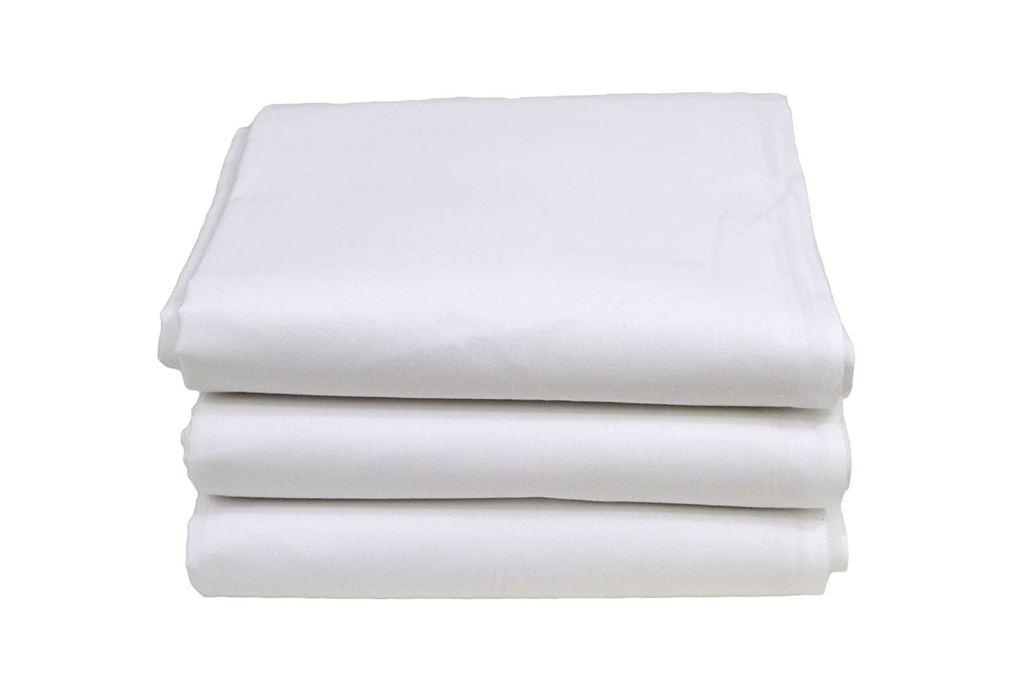 Image of Hotel Basics X32010 T200 Twin Sheet, 66' x 116', White (Pack of 12) Bed Linens