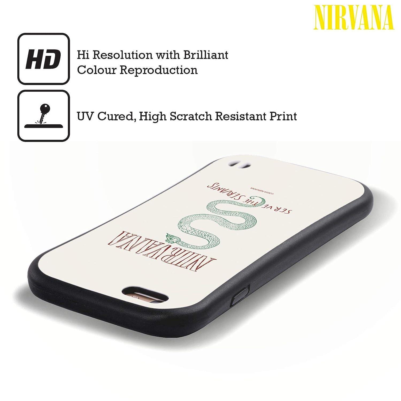 iPhone 8 Head Case Designs Ufficiale Nirvana Band in Utero Arte Cover Ibrida Compatibile con iPhone 7