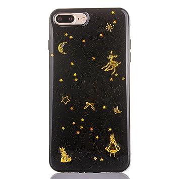 YFZYT Carcasa Resistente a Arañazos iPhone 8Plus, Negro ...