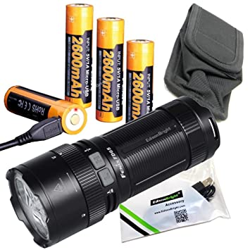 Amazon.com: FENIX FD65 3800 Lumen foco ajustable CREE LED ...