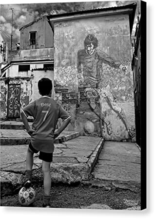 Belfast boy in memory of george best by donovan torres canvas