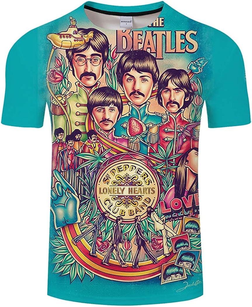 Camiseta de Manga Corta de los Beatles en 3D Impresión de ...