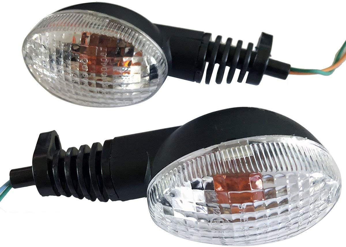 Clear//Smoke Lens Chrome Mini-Deuce Style Motorcycle Turn Signal Marker Lights